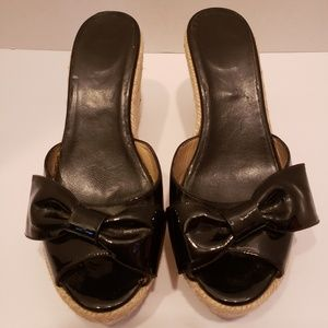 Valentino Garavani patent leather wedge 7 1/2